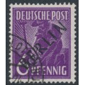 WEST BERLIN - 1948 6pf deep violet Planting Crops overprinted BERLIN, used – Michel # 2