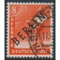 WEST BERLIN - 1948 8pf red-orange Sowing Seeds overprinted BERLIN, used – Michel # 3