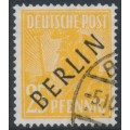 WEST BERLIN - 1948 25pf yellow-orange Planting Crops overprinted BERLIN, used – Michel # 10