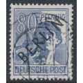 WEST BERLIN - 1948 80pf violet-ultramarine Worker overprinted BERLIN, used – Michel # 15