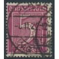GERMANY - 1922 5pf purple-carmine Numeral, network watermark, geprüft, used – Michel # 177