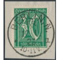 GERMANY - 1922 30pf green Numeral, network watermark, geprüft, used – Michel # 181