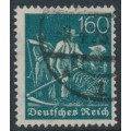 GERMANY - 1922 160pf deep green Harvesters, network watermark, geprüft, used – Michel # 190