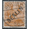 WEST BERLIN - 1948 24pf orange-brown Farmers overprinted BERLIN, used – Michel # 9