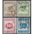 EAST GERMANY / DDR - 1952 Famous People set of 4, used – Michel # 311-314