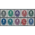 EAST GERMANY / DDR - 1950 Berlin Science Academy set of 10, used – Michel # 261-270