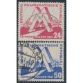 EAST GERMANY / DDR - 1951 Leipzig Messe set of 2, used – Michel # 282-283