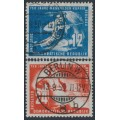 EAST GERMANY / DDR - 1950 Copper Mining set of 2, used – Michel # 273-274