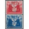 EAST GERMANY / DDR - 1951 German-Polish Friendship set of 2, used – Michel # 284-285