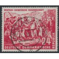 EAST GERMANY / DDR - 1951 24pf red German-Chinese Friendship, used – Michel # 287
