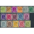 WEST GERMANY - 1951 2pf to 90pf Posthorns set of 16, used – Michel # 123-138