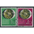 WEST GERMANY - 1951 National Stamp Exhibition, Wuppertal (NBA) set of 2, used – Michel # 141-142