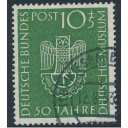 WEST GERMANY - 1953 10+5pf green German Museum in Munich, used – Michel # 163