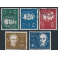 WEST GERMANY - 1959 Classical Music Composers set of 5, used – Michel # 315-319