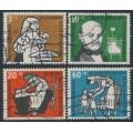 WEST GERMANY - 1956 Helfer der Menschheit Welfare set of 4, used – Michel # 243-246
