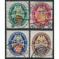 GERMANY - 1926 Coats of Arms Charity set of 4, used – Michel # 398-401