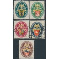 GERMANY - 1928 Coats of Arms Charity set of 5, used – Michel # 425-429