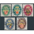 GERMANY - 1929 Coats of Arms Charity set of 5, used – Michel # 430-434