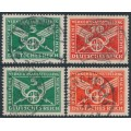 GERMANY - 1925 Traffic sets, vertical & horizontal watermarks, used – Michel # 370X-371X + 370Y-371Y