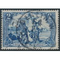 GERMANY - 1902 2M deep blue 'Nord und Sud' definitive, used – Michel # 79A