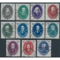 EAST GERMANY / DDR - 1950 Berlin Science Academy set of 11, used – Michel # 261-270 + 266b