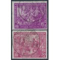 EAST GERMANY / DDR - 1950 Leipzig Messe set of 2, used – Michel # 248-249