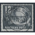 EAST GERMANY / DDR - 1949 12+3pf black/grey Stamp Day, used – Michel # 245