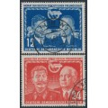 EAST GERMANY / DDR - 1951 German-Soviet Friendship set of 2, used – Michel # 296-297