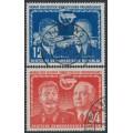 EAST GERMANY / DDR - 1951 German-Soviet Friendship set of 2, used – Michel # 296-297