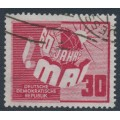 EAST GERMANY / DDR - 1950 30pf carmine-red May Day, used – Michel # 250