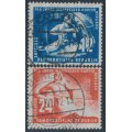 EAST GERMANY / DDR - 1950 Copper Mining set of 2, used – Michel # 273-27
