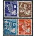 EAST GERMANY / DDR - 1950 Peace set of 4, used – Michel # 276-279