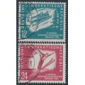EAST GERMANY / DDR - 1951 Winter Sports set of 2, used – Michel # 280-281
