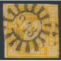 BAVARIA / BAYERN - 1854 18Kr yellow-orange Numeral, imperforate, used – Michel # 7