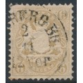 BAVARIA / BAYERN - 1870 6Kr ochre-brown Coat of Arms, wide diamonds watermark, used – Michel # 24Y
