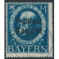BAVARIA / BAYERN - 1919 5M Prussian blue King, o/p FREISTAAT BAYERN, used – Michel # 168A