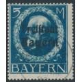 BAVARIA / BAYERN - 1919 5M Prussian blue King, o/p FREISTAAT BAYERN, used – Michel # 168A