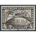 GERMANY - 1930 4RM black-brown Zeppelin, 1. Südamerika Fahrt, used – Michel # 439Y