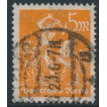 GERMANY - 1923 5Mk orange Miner, network watermark, geprüft, used – Michel # 238