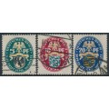 GERMANY - 1925 Coats of Arms Charity set of 3, used – Michel # 375-377