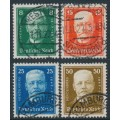 GERMANY - 1927 President Hindenburg set of 4, used – Michel # 403-406
