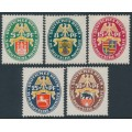 GERMANY - 1928 Coats of Arms Charity set of 5, MH – Michel # 425-429