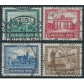 GERMANY - 1930 Famous Buildings Charity set of 4, used – Michel # 450-453