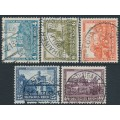 GERMANY - 1932 Historic Castles welfare set of 5, used – Michel # 474-478