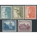 GERMANY - 1932 Historic Castles welfare set of 5, MH – Michel # 474-478