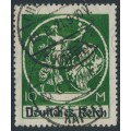 GERMANY - 1920 10Mk green Bavarian issue o/p DEUTSCHES REICH, used – Michel # 137I