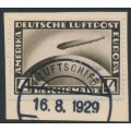 GERMANY - 1928 4RM black-brown Graf Zeppelin, used – Michel # 424