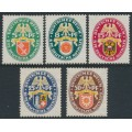 GERMANY - 1929 Coats of Arms Charity set of 5, MH – Michel # 430-434
