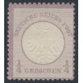 GERMANY - 1872 ¼Gr violet Small Shield (Kleiner Brustschild), MNG – Michel # 1