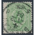 GERMANY - 1880 3pf yellow-green Numeral, extra wide stamp, used – Michel # 39IBb